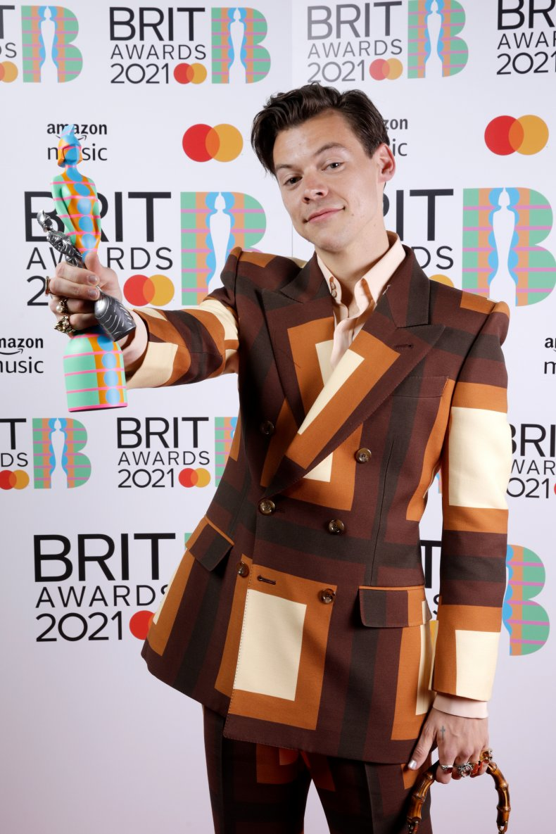 Harry Styles at the 2021 Brit Awards