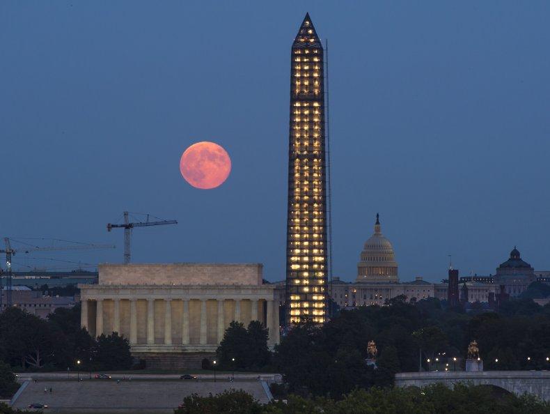 The Harvest Moon in Washington, D.C.