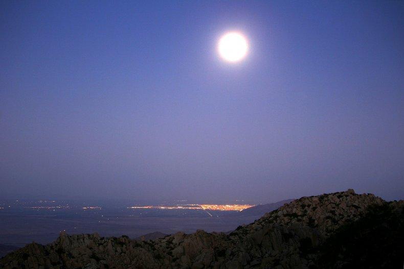 The Harvest Moon near the California-Mexico border.