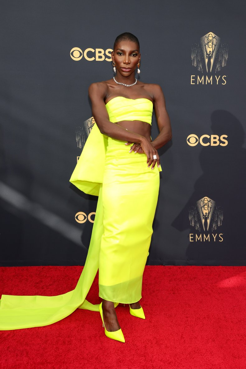 Michaela Coel at the 2021 Emmy Awards