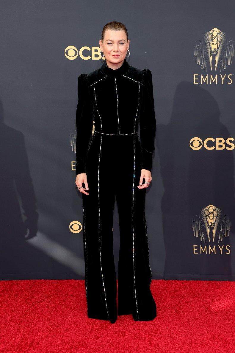 Ellen Pompeo at the 2021 Emmy Awards