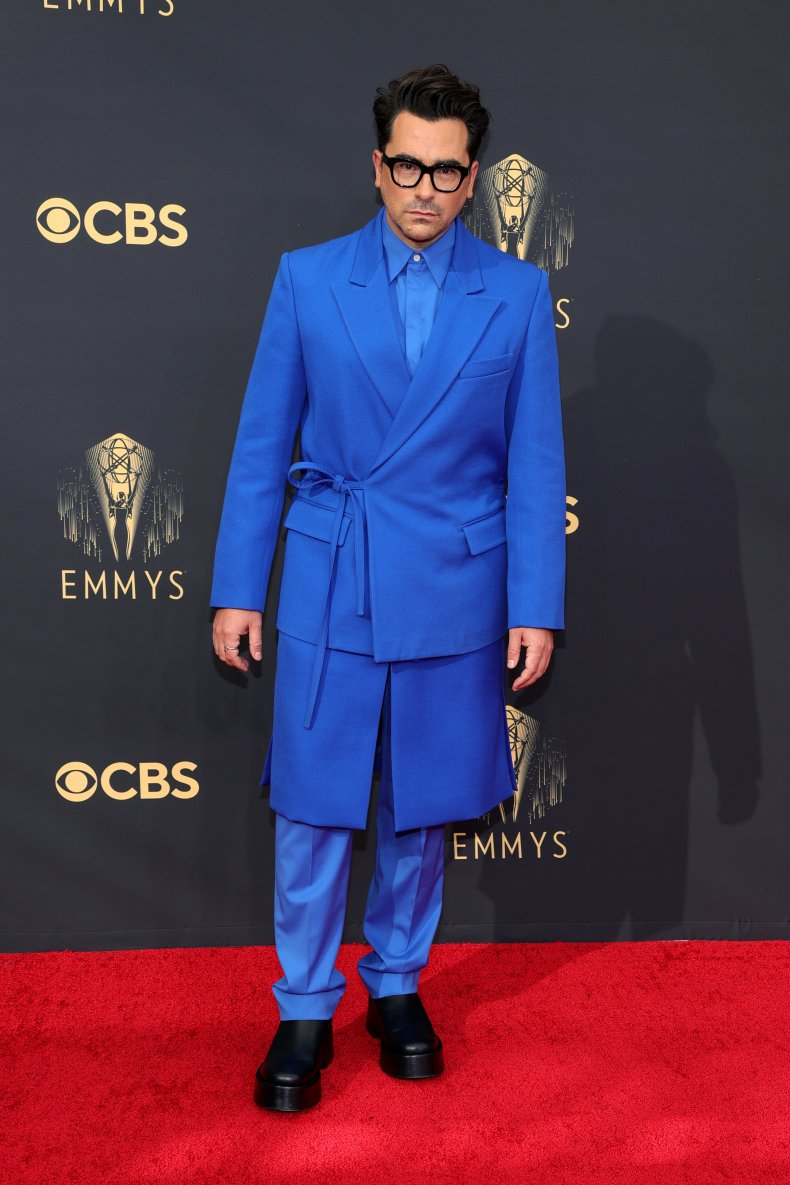 Dan Levy at the 2021 Emmy Awards
