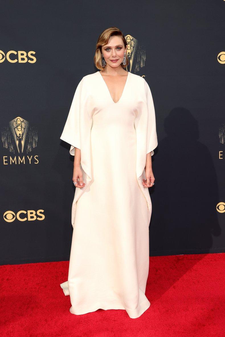 Elizabeth Olsen at the 2021 Emmy Awards