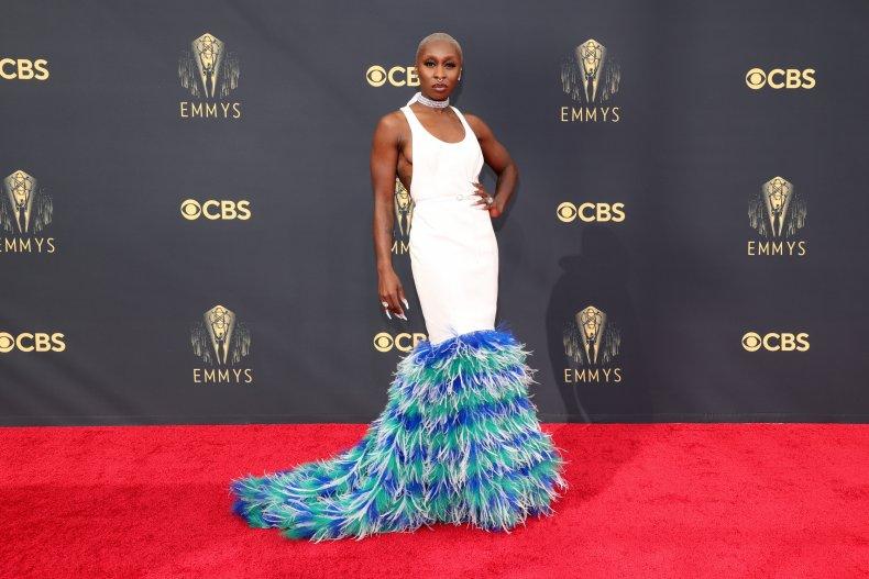 Cynthia Erviro at the 2021 Emmy Awards