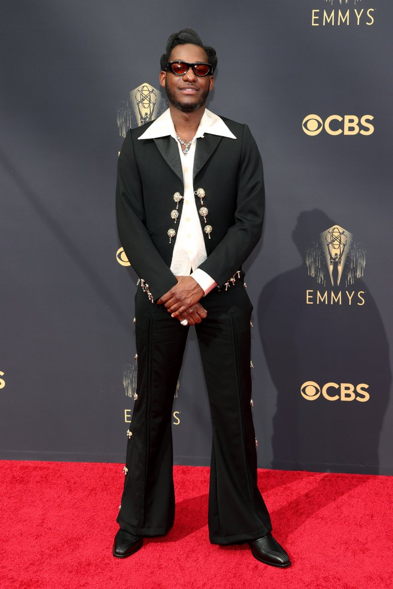 Leon Bridges at the 2021 Emmy Awards