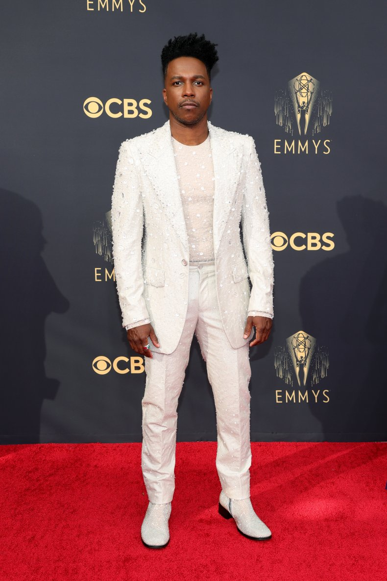 Leslie Odom Jr at the Emmy Awards