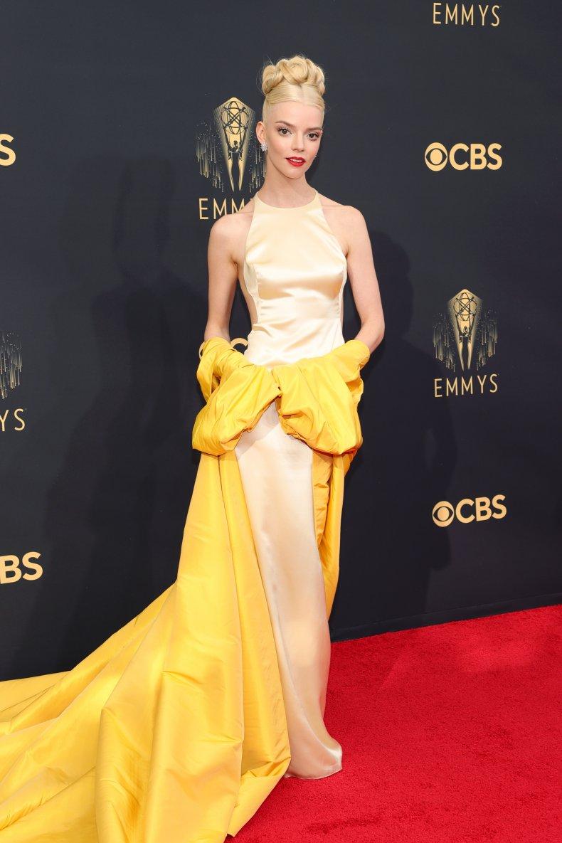Anya Taylor-Joy at the 2021 Emmy Awards