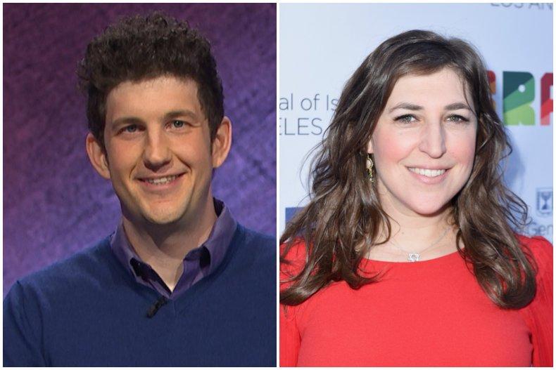 """""""Jeopardy!"""" champ Matt Amodio and Mayim Bialik"""