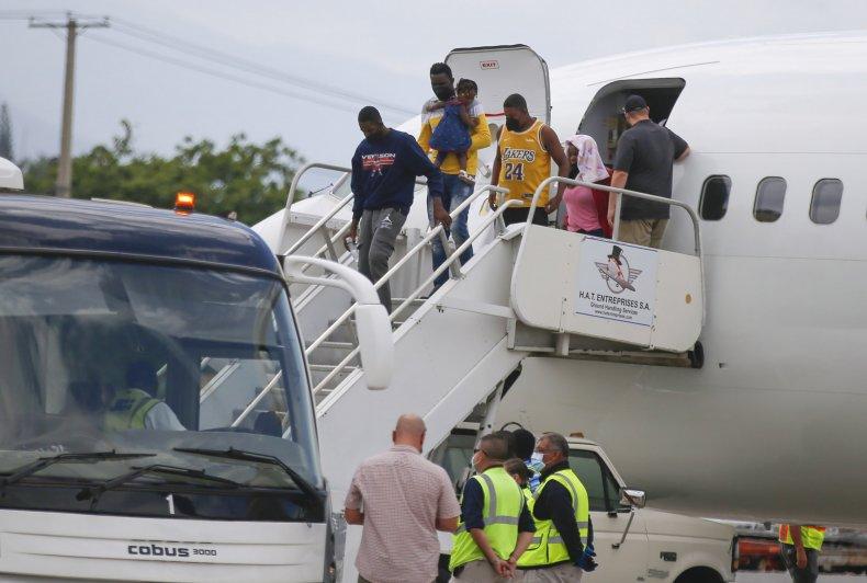 Haitian Migrants Arrive Back in Haiti