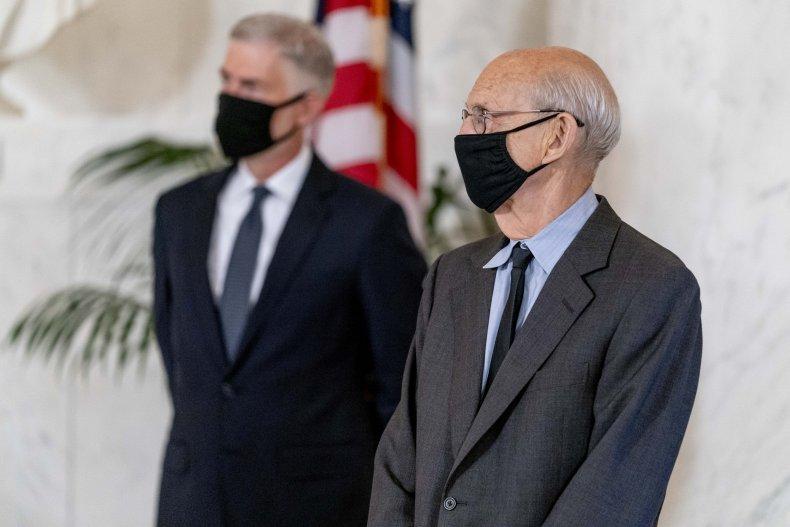Supreme Court Justices Gorsuch and Breyer