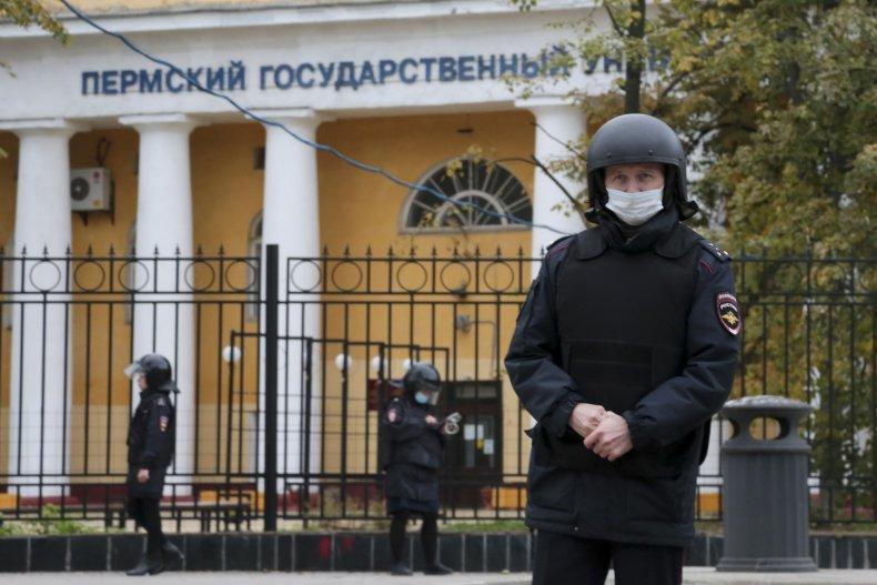 Police Guard Russian University
