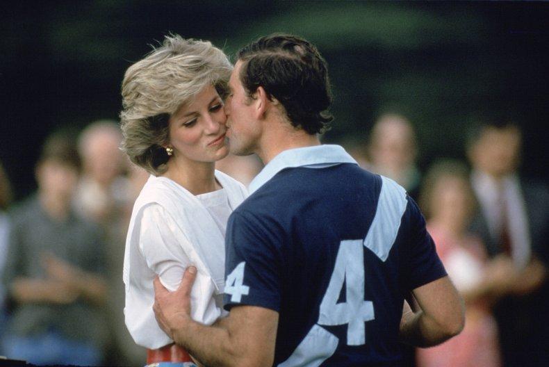 Prince Charles Kissing Diana