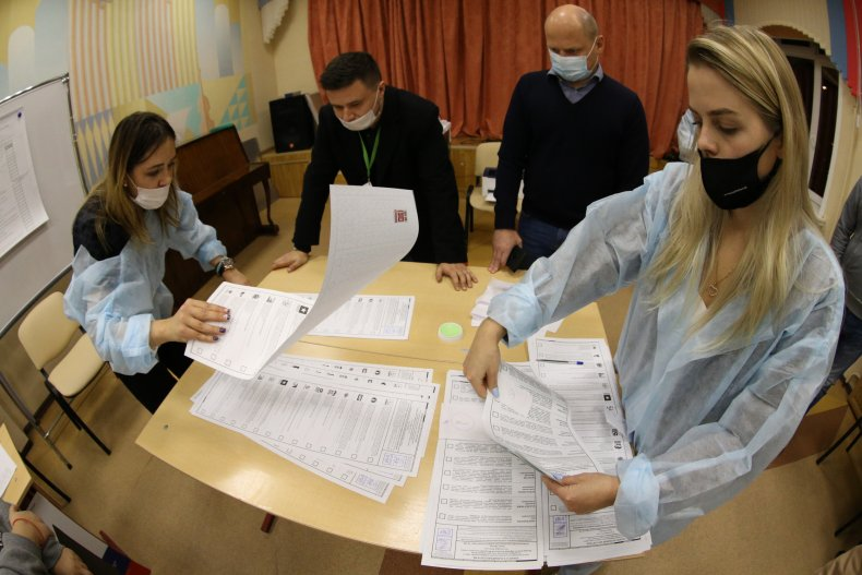 Ballots counted in Russia