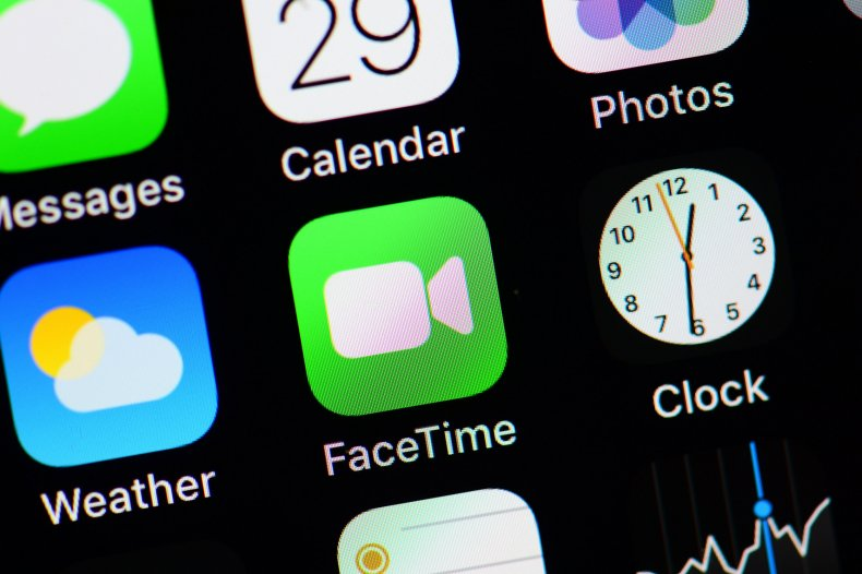 FaceTime Logo Appears on an iPhone Display