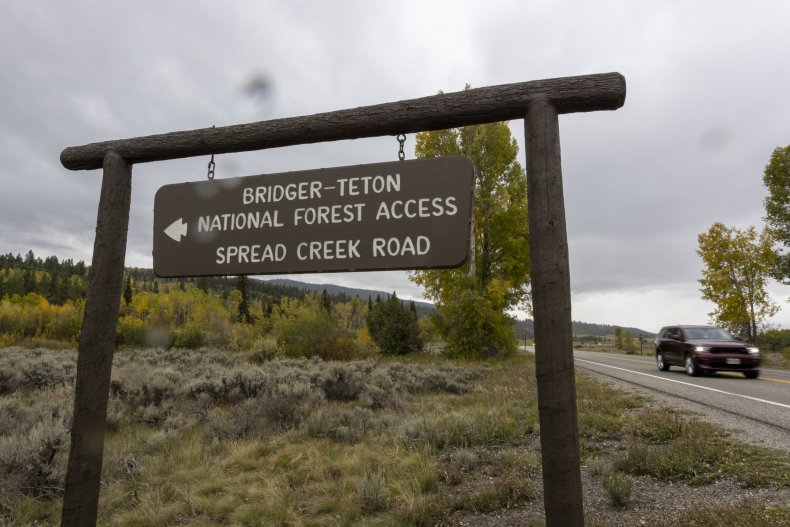 A sign for Wyoming's Spread Creek Campground.