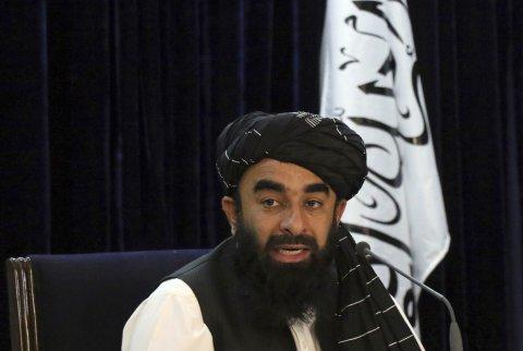 Taliban Spokesman Holds News Conference