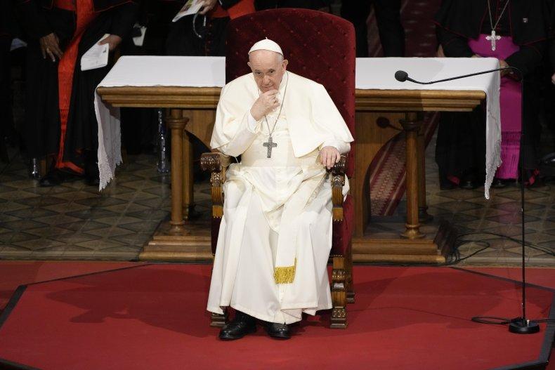 Pope Denounces Critics