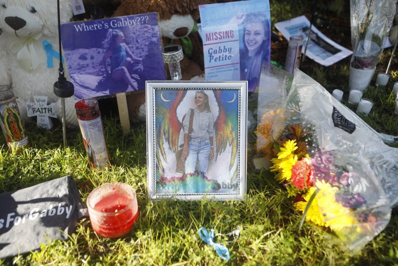 A makeshift Gabby Petito memorial in Florida.