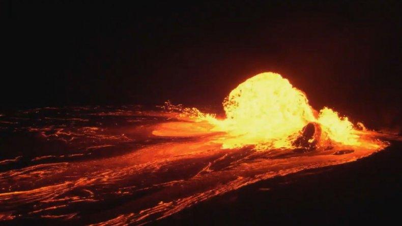 Mars Volcano Eruption