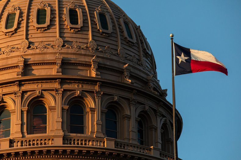 The Texas State Capitol is seen on