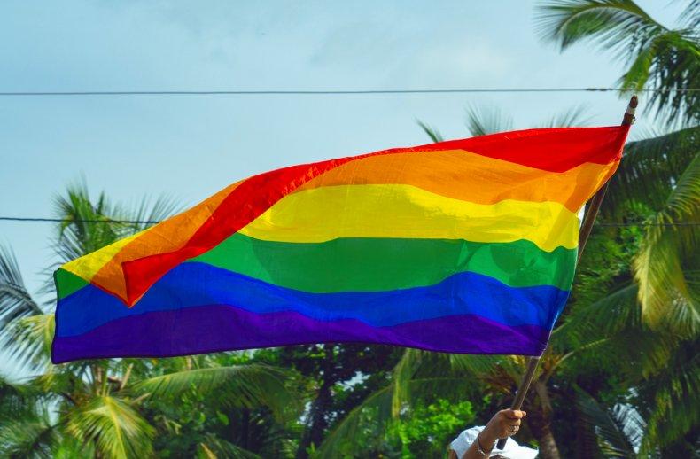 LGBTQ Pride Flag Confederate Hat High School.