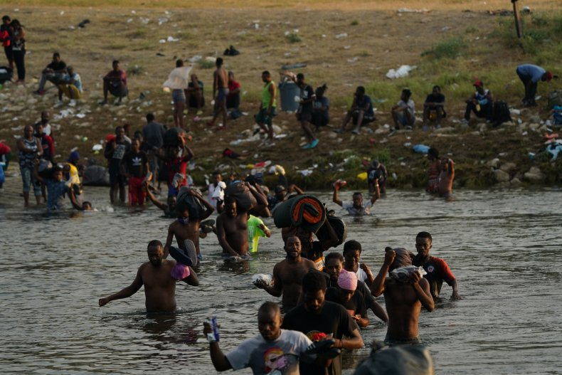 Migrants Wade Across Rio Grande