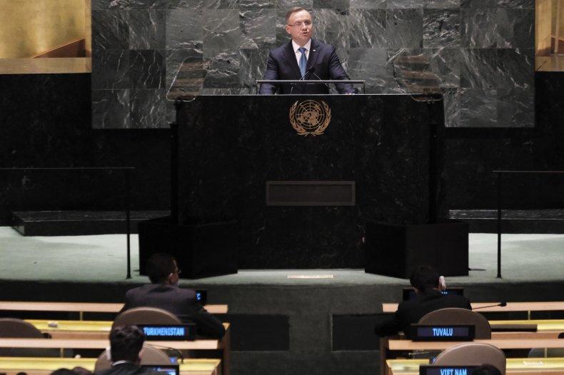 Polish President Addresses U.N. Assembly