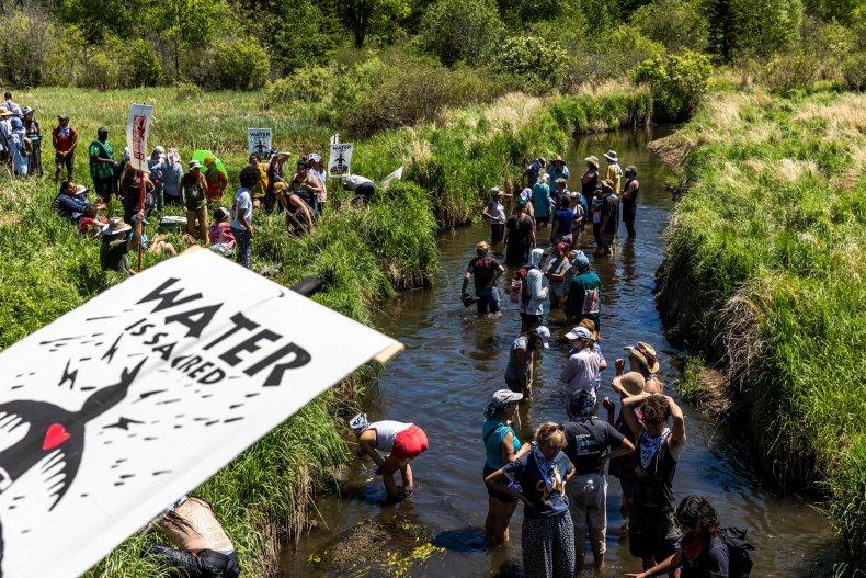 Line 3 oil pipeline protests tribal lands