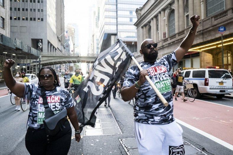 Hawk Newsome marches in New York