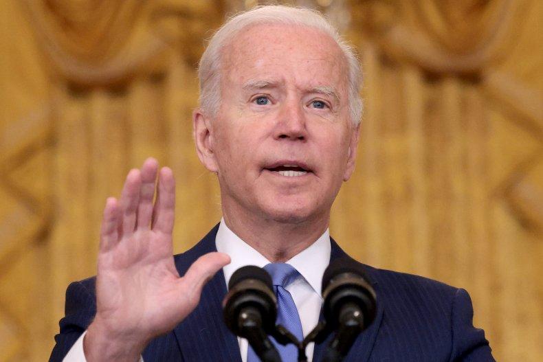 Joe Biden Speaks in the East Room