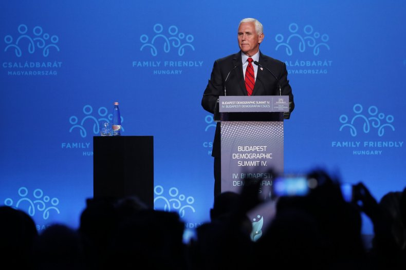 Mike Pence Gives Speech
