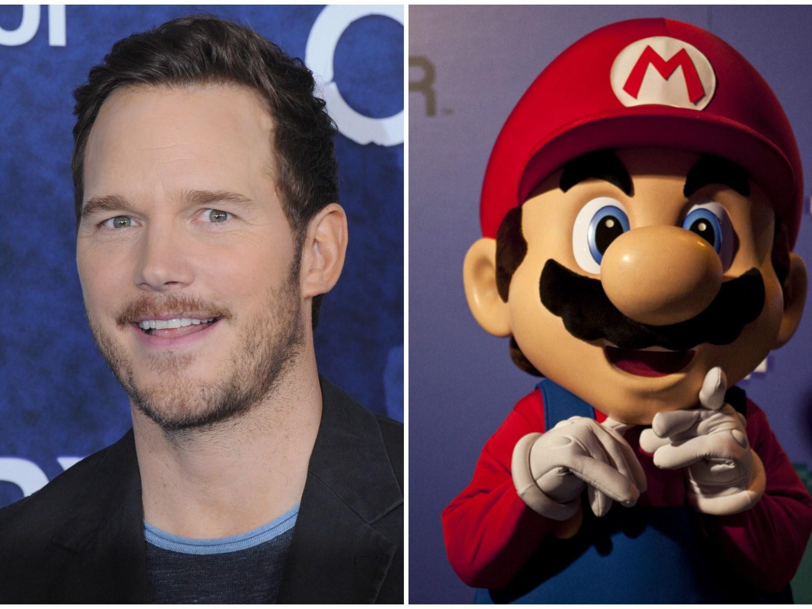 Voice of Chris Pratt Mario in the Super Mario movie