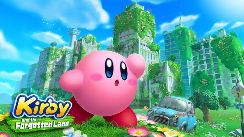 Kirby and the Forgotten Land Keyart