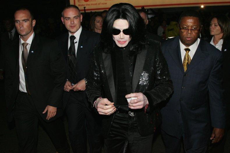 Michael Jackson with bodyguard Simon Newton