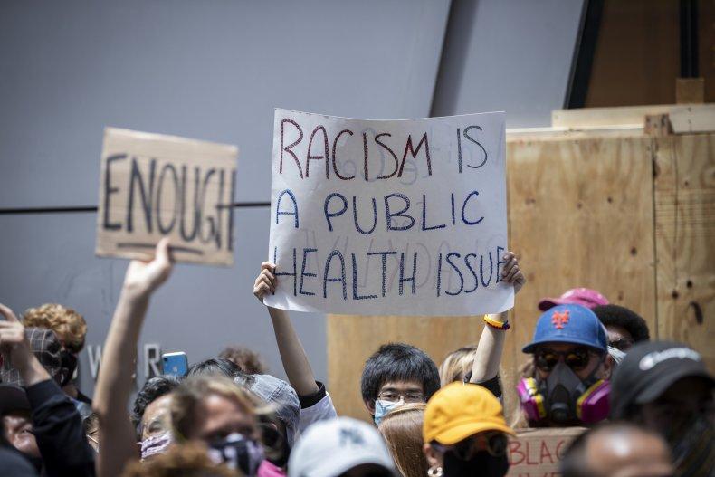 Signs Displayed During Black Lives Matter Protest