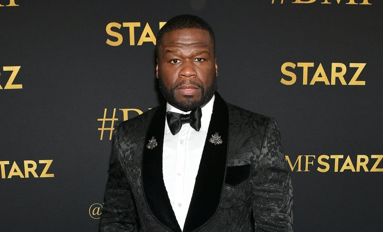 50 Cent at the premiere of BMF