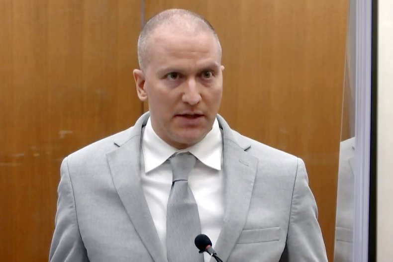 Derek Chauvin speaks in court.