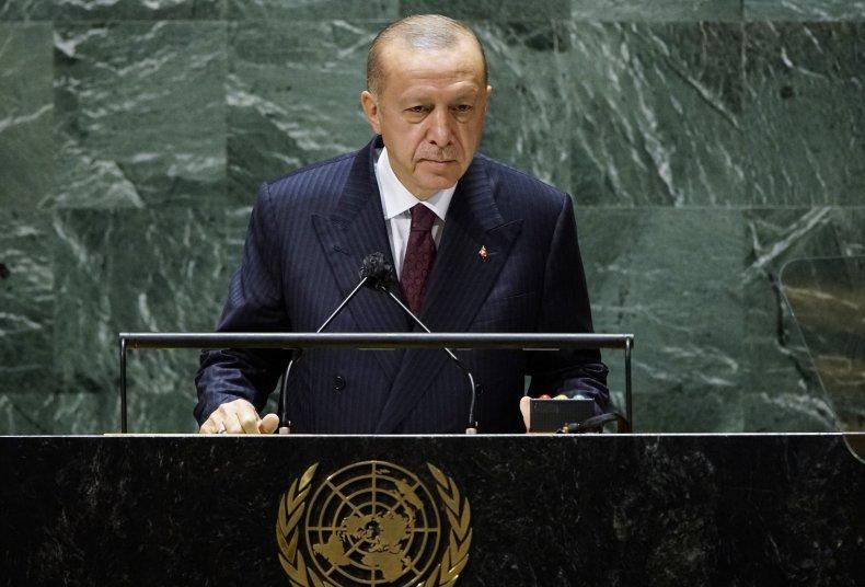Tayyip Erdogan at United Nations