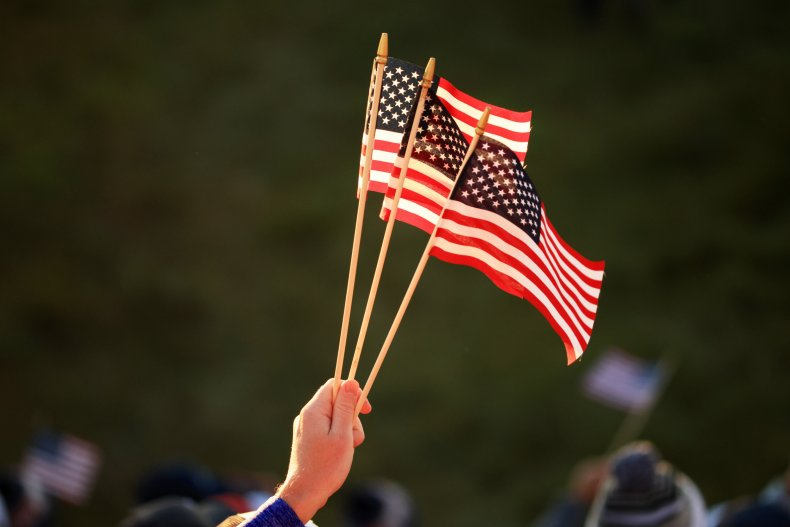 U.S. flags are shown