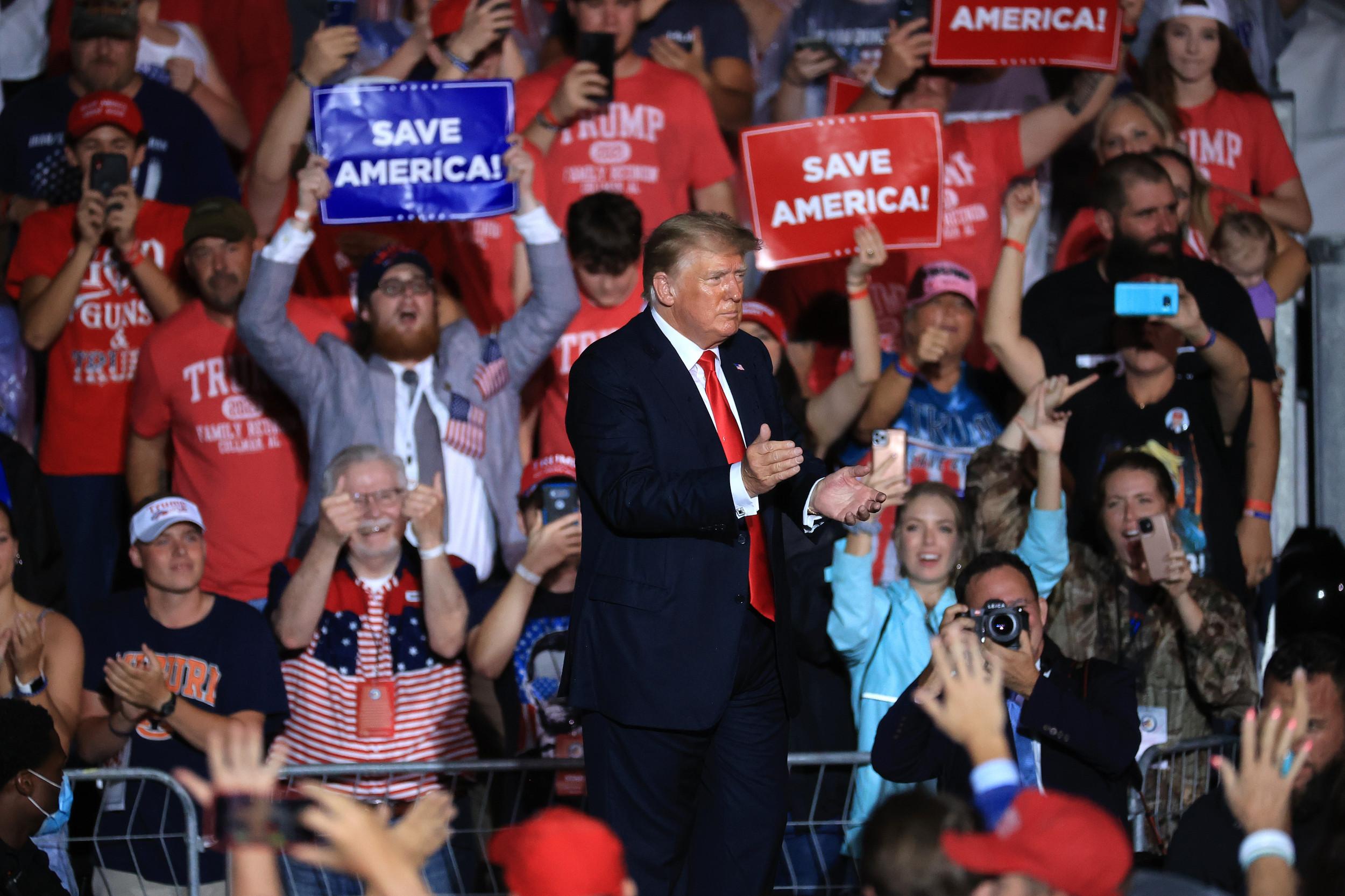 At Georgia Rally, Trump Falsely Claims Arizona Audit Found He Won in Maricopa County - Newsweek