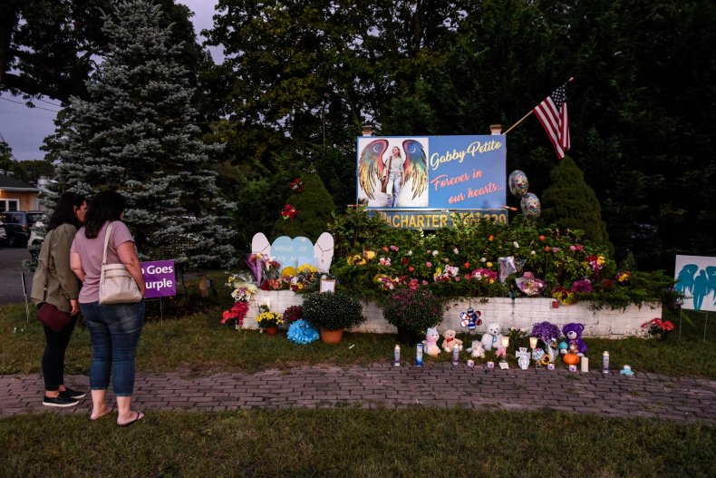 People gather at memorial for Gabby Petito
