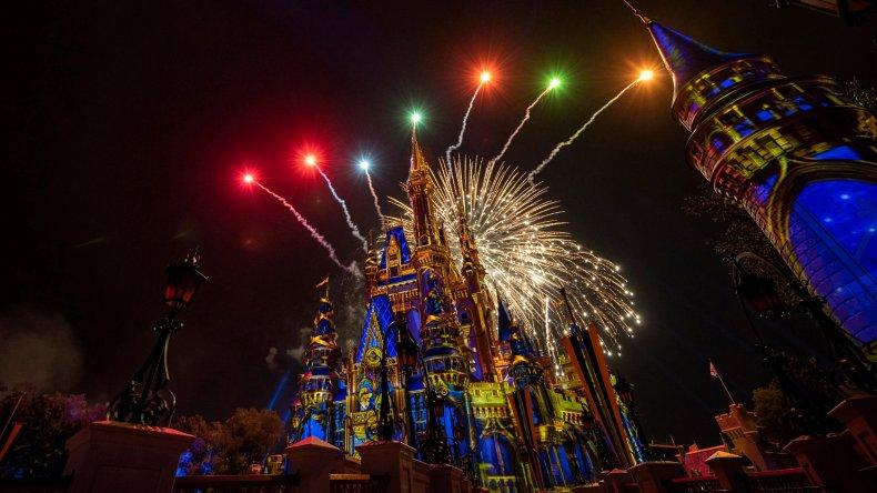 Disney World's Cinderella Castle fireworks display