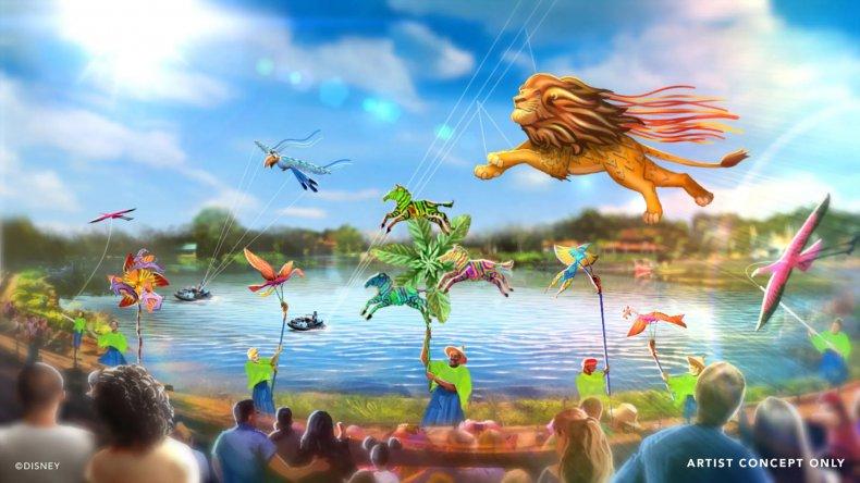 Artist's rendering of Disney KiteTails