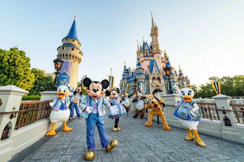 Disney characters at Walt Disney World