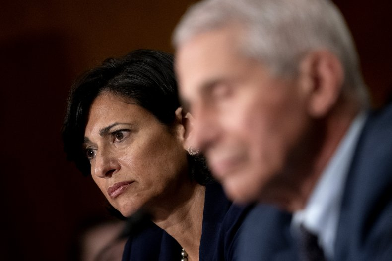 Rochelle Walensky and Anthony Fauci