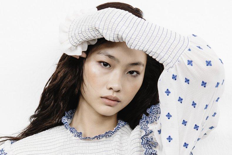HoYeon Jung at 2018 Milan Fashion Week.