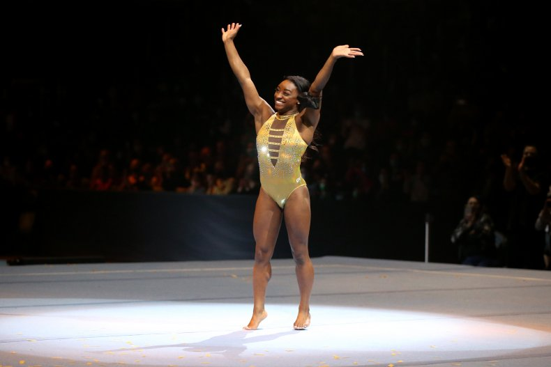 Simone Biles at Gold Over America Tour