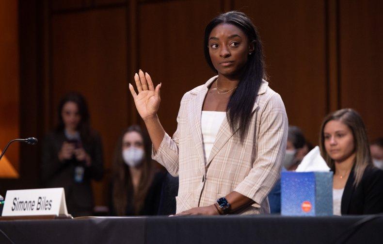 Simone Biles at US Senate Judiciary Committee