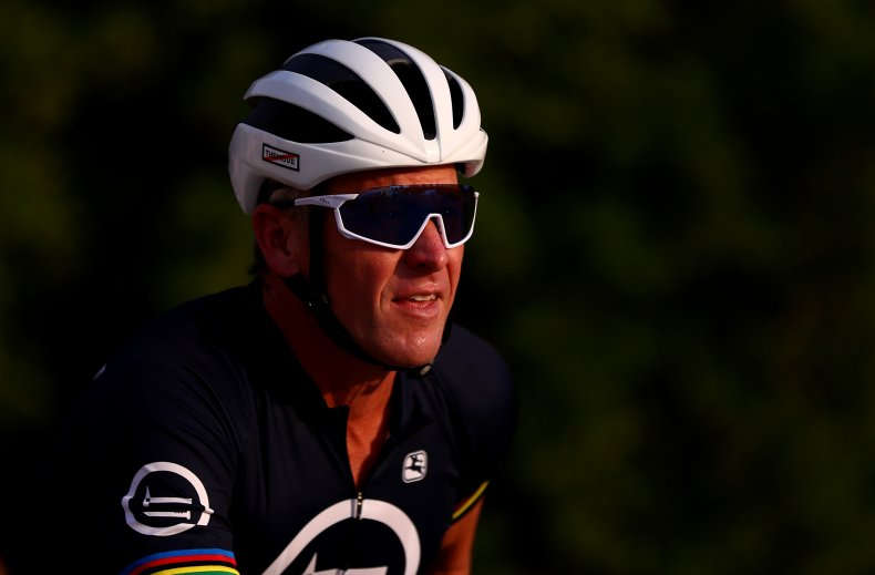 """Lance Armstrong during """"Ride With Lance"""""""