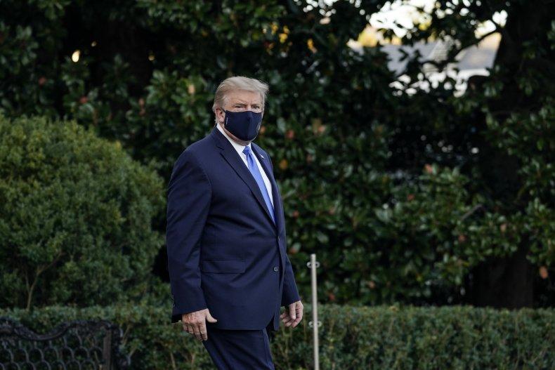 U.S. President Donald Trump leaves the White